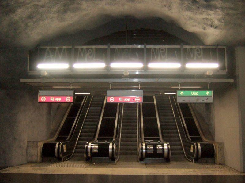 Åka tunnelbana i Stockholm